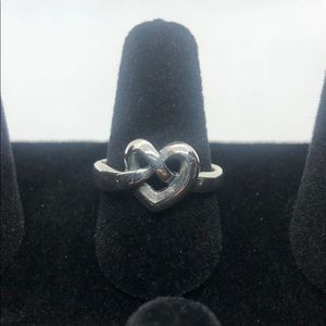 James Avery sterling silver knotted heart ring